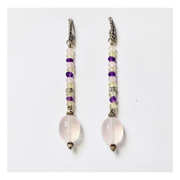 David Yurman Jewelry - David Yurman Sterling 18k Gold Long Drop Earrings